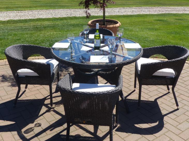 Comedor de Ratán para jardín Palermo | Oceans muebles de jardín