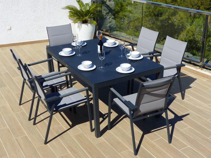 Comedor de jard n valencia con 6 sillones valencia - Muebles jardin valencia ...