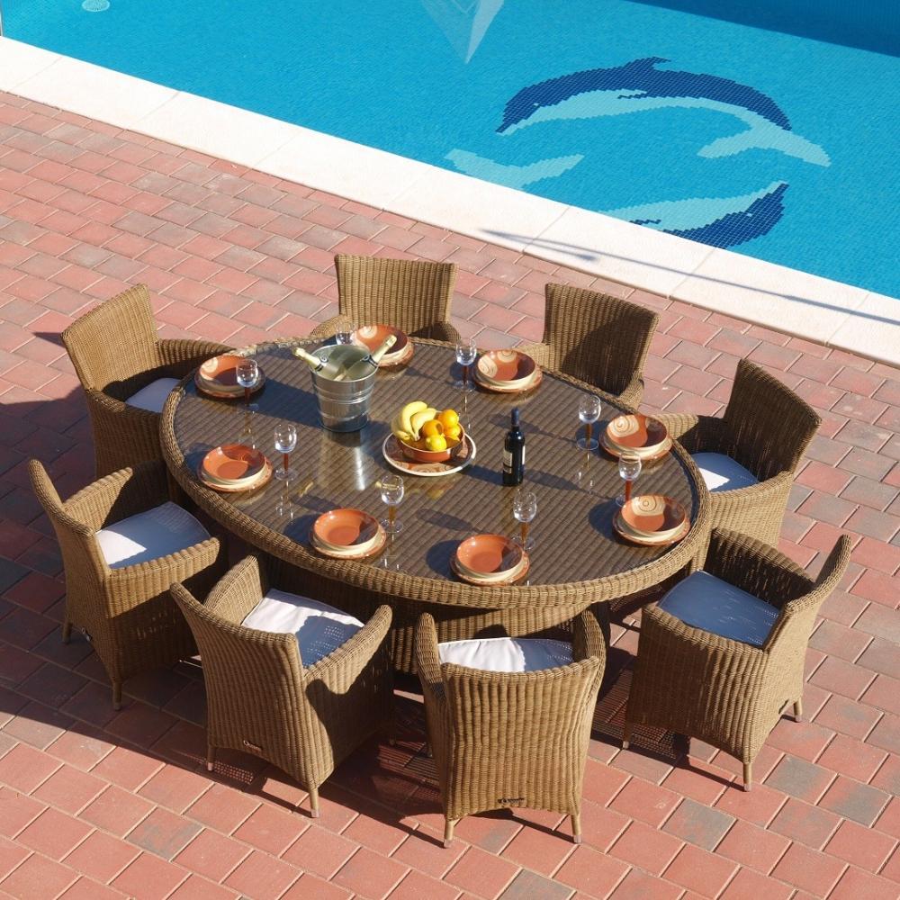 Comedor de jardín Ovalado 8 plazas Bahama   Oceans muebles de jardín