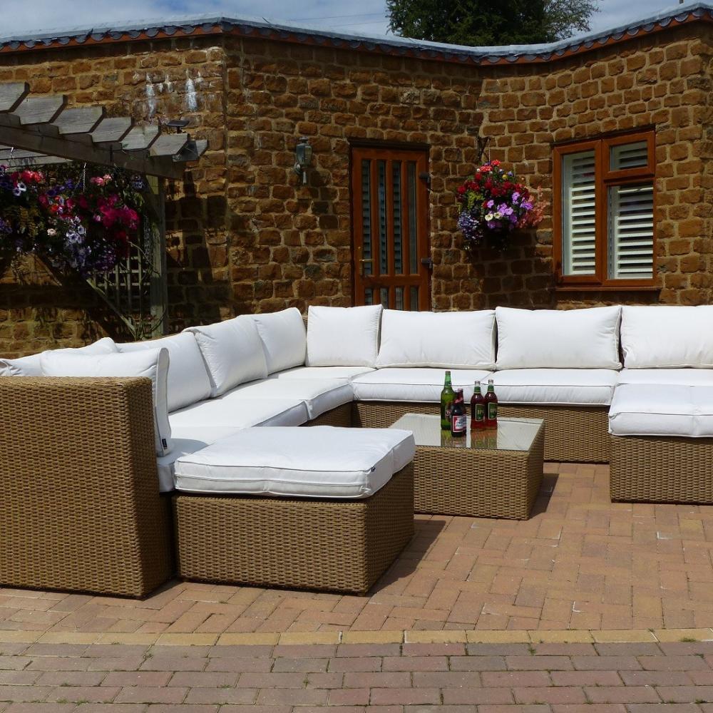 Santiago Deluxe Rattan Corner Sofa Set   Oceans Garden ...