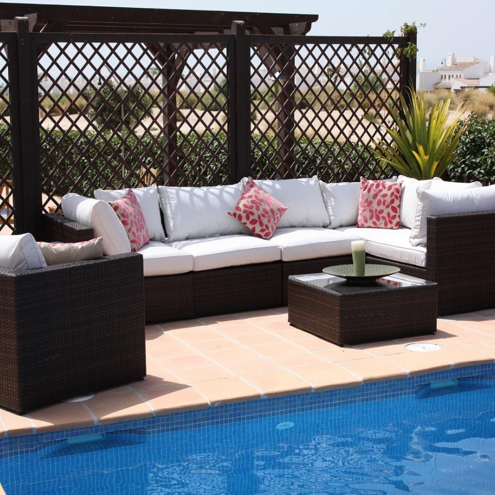 Sof de rat n para jard n dominican oceans muebles de jard n for Rebajas muebles de jardin