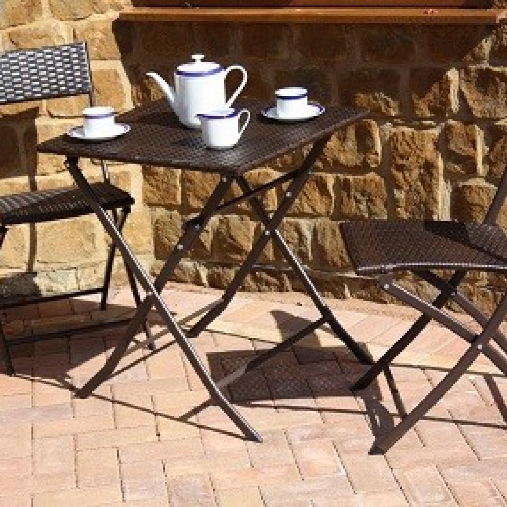 Mesa y sillas de rat n texan oceans muebles de jard n for Rebajas muebles jardin