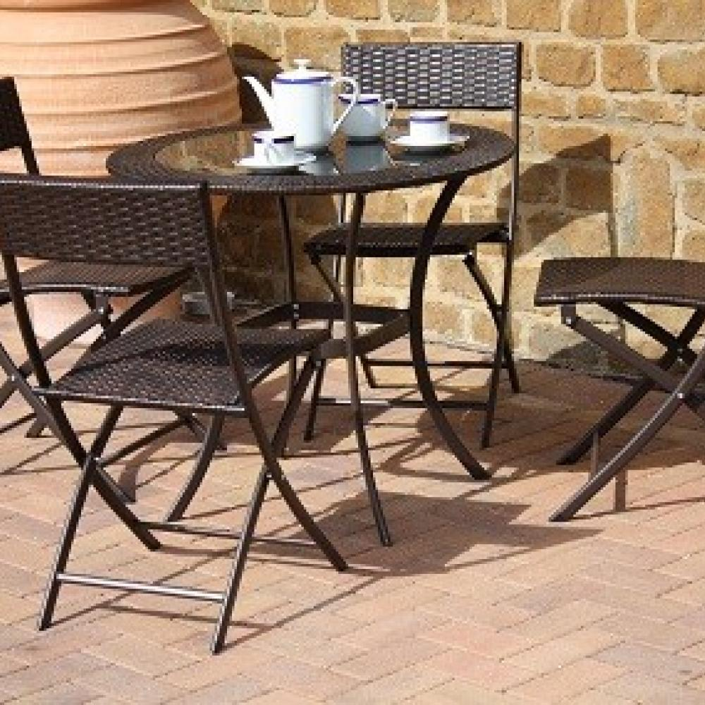 Mesa y sillas de rat n florida oceans muebles de jard n for Rebajas muebles jardin