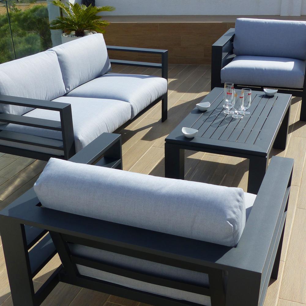 Conjunto de sof valencia oceans muebles de jard n for Muebles de jardin valencia