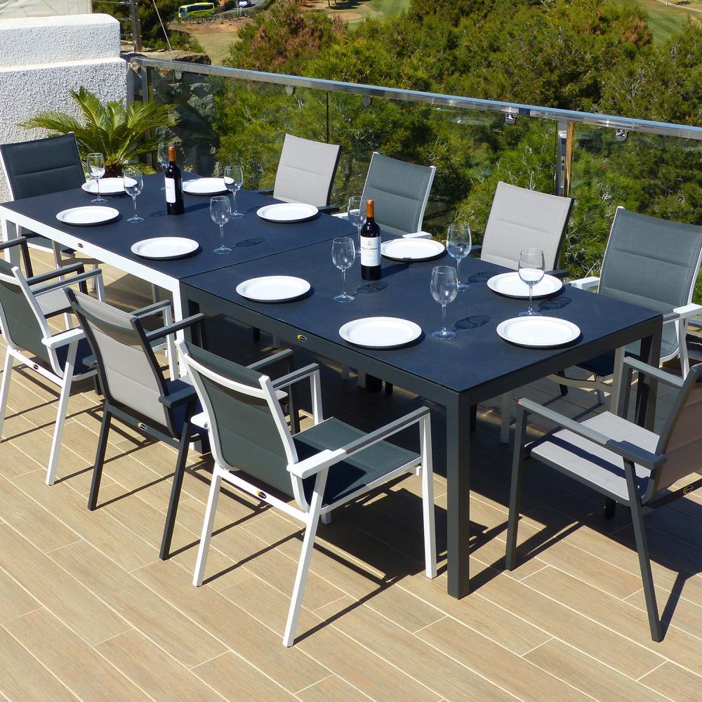 Comedor de jard n valencia con 10 sillones valencia for Muebles de jardin valencia