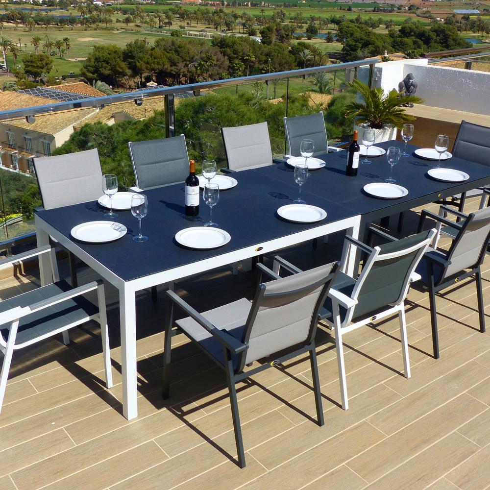 Comedor de jard n valencia con 10 sillones valencia for Muebles jardin valencia