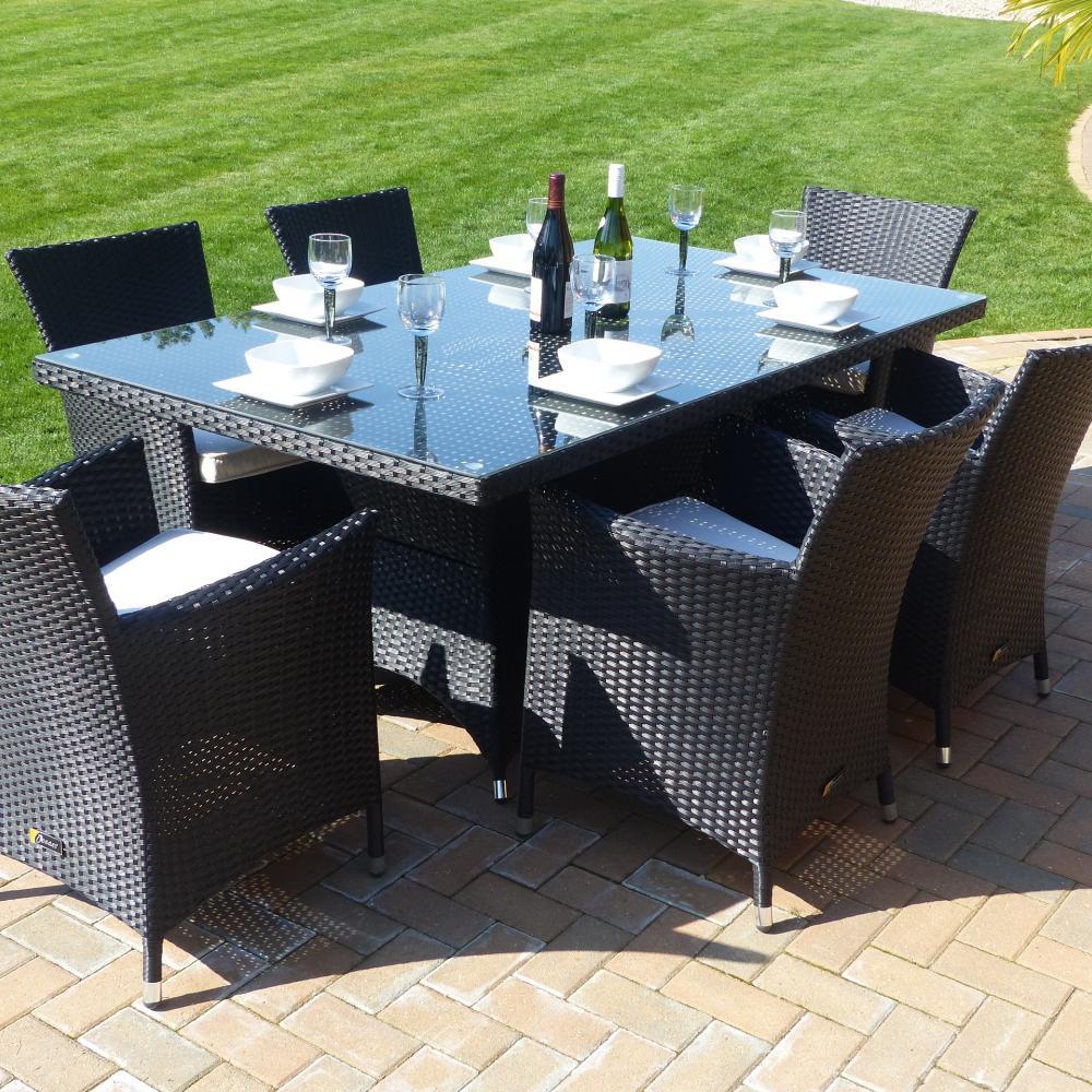 Comedor de 6 asientos marseille oceans muebles de jard n for Rebajas muebles jardin