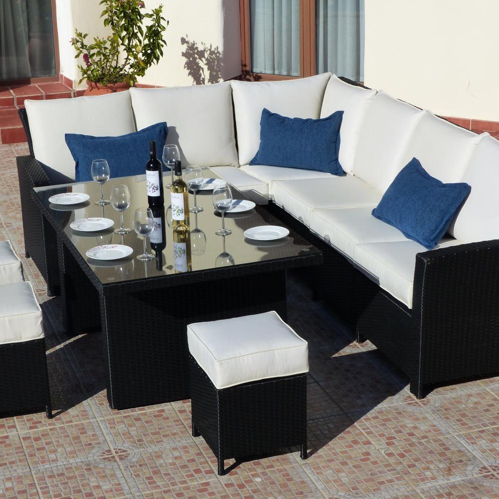 Comedor / Sofá de Ratán para Jardín Monaco | Oceans muebles de jardín