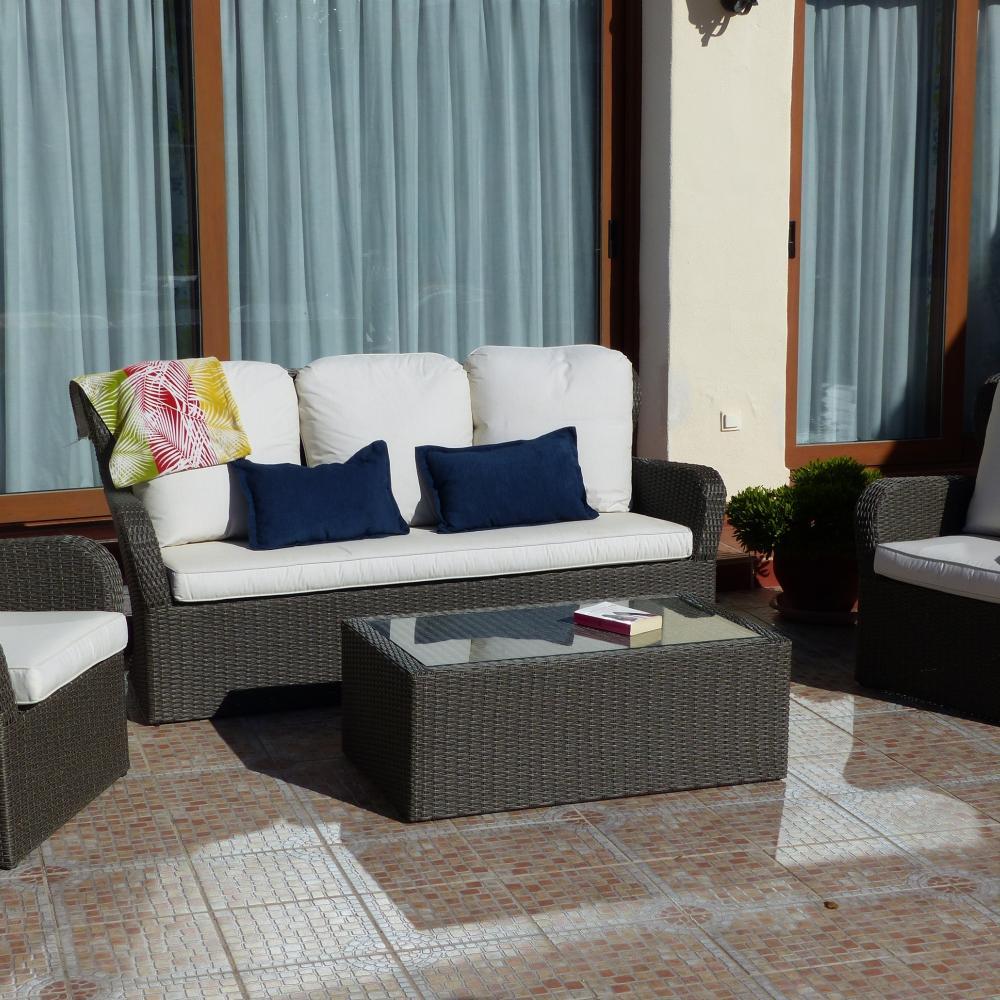 Sof para jard n madrid oceans muebles de jard n for Rebajas muebles jardin