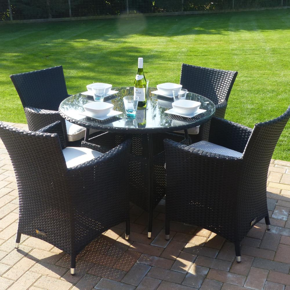 Seville Round Dining Set Oceans Garden Furniture